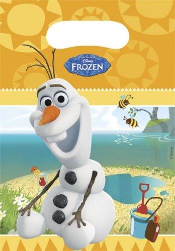 Disney Frozen Partytüten, 6Stück mit Sommer Olaf (Supplies Olaf Party Frozen)