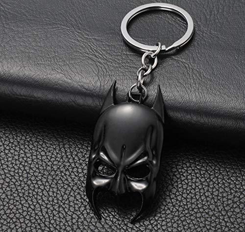 Bellecita Mode Schlüsselanhänger Dekorationen Movie Series Schlüsselanhänger Batman Maske Schlüsselanhänger Keychain für Schlüssel Chaveiro Llavero Schlüsselanhänger Schlüsselanhänger (Schwarz)