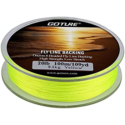 Goture 8 Strand Braided Fly Line Backing Trout Fishing Line 20LB/30LB 109YARDS by Goture