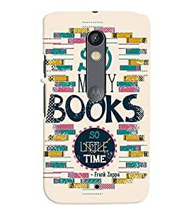 printtech Books Back Case Cover for Motorola Moto X Play Dual SIM
