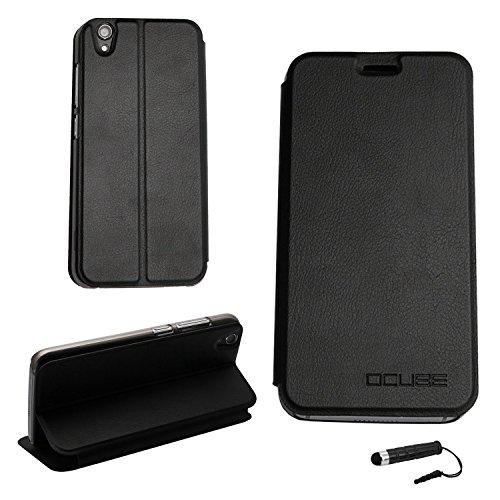 Tasche für UMIDIGI Diamond/ UMIDIGI Diamond X Hülle, Ycloud PU Ledertasche Metal Smartphone Flip Cover Case Handyhülle mit Stand Function Schwarz