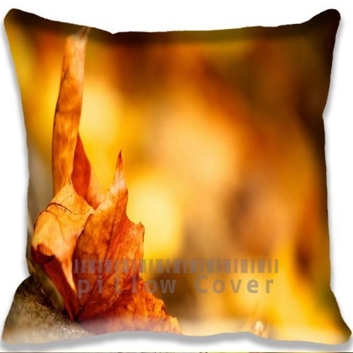 nature Golden Macro Autumn Leaf Cushion Cover