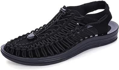 Uomini Sandali Mano Cucito Anti Slip Wear Resistente Traspirante Scarpe Casual Estate Cool Confortevole Sandalo Acqua Calzature per Camminare e casa