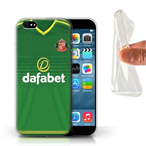 Offiziell Sunderland AFC Hülle / Gel TPU Case für Apple iPhone 6 / Pack 24pcs Muster / SAFC Trikot Away 15/16 Kollektion Fußballer