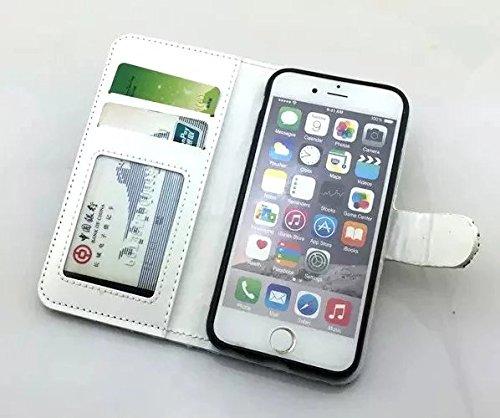 Vandot Bling Diamant Crystal Strass Coque pour Apple iphone 6 6S 4.7 Pouces Coque Etui Housse avec PU Cuir Pochette Portefeuille Case Cover Téléphone Protection Protecteurs D'écran Folio Flip Hull Coq SM-Argent