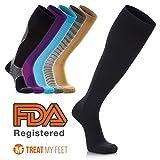 Treat My Feet - Calcetines de compresión hasta la rodilla que alivia el dolor de las pantorr...