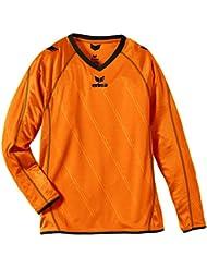 erima Trikot Roma langarm - Camiseta, color naranja / negro, talla 10 años (140 cm)