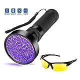SIYUMAOYI UV Taschenlampe LED UV-Taschenlampe Pet/Urin-Finder Fleck Detektor schwarze Taschenlampe 100 LED Perlen, Super