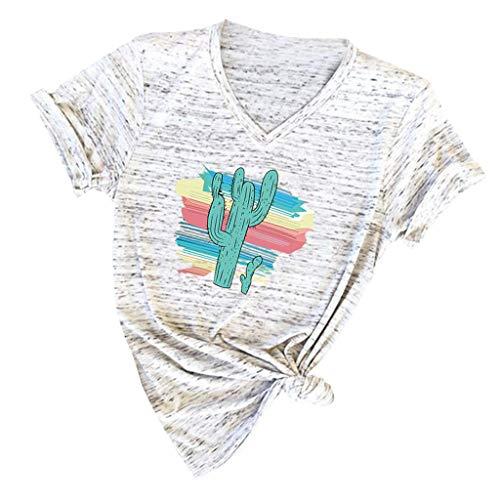 Damen Frauen Kurzarm Floral Kurzarm Niedlich Oberteile Blumen Pumps Gedruckt Tops Strand Beiläufige Lose Bluse Top T-Shirt ()