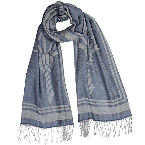 Joop! Herren Schal Baumwolle & Mix Accessoire, Größe: Onesize, Farbe: Blau
