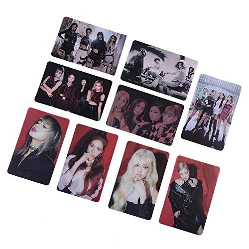ALTcompluser Kpop Blackpink Photocard/Fotokarten Set, Jennie Jisoo Lisa Rosé Transparente Fotokarten -