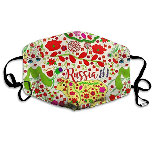 Russian Embroidery Anti Dust Mask Anti Pollution Washable Reusable Mouth Masks -
