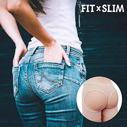 FitxSlim Bum-Bastic Push-Up - Faja realzadora de gluteos, talla S, color beige