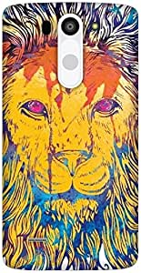 The Racoon Grip Lion Watercolor hard plastic printed back case / cover for LG G3 Beat