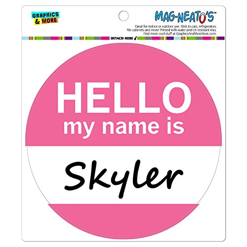 Preisvergleich Produktbild Skyler Hello My Name Is Mag-Neato 's-TM) Automotive Car Kühlschrank Locker Vinyl Magnet
