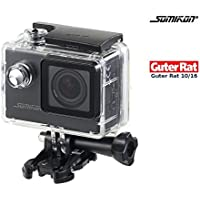 Somikon Unterwasserkamera: Einsteiger-4K-Action-Cam, Full HD (60 B./Sek.), mit Unterwassergehäuse (Digitalkamera)