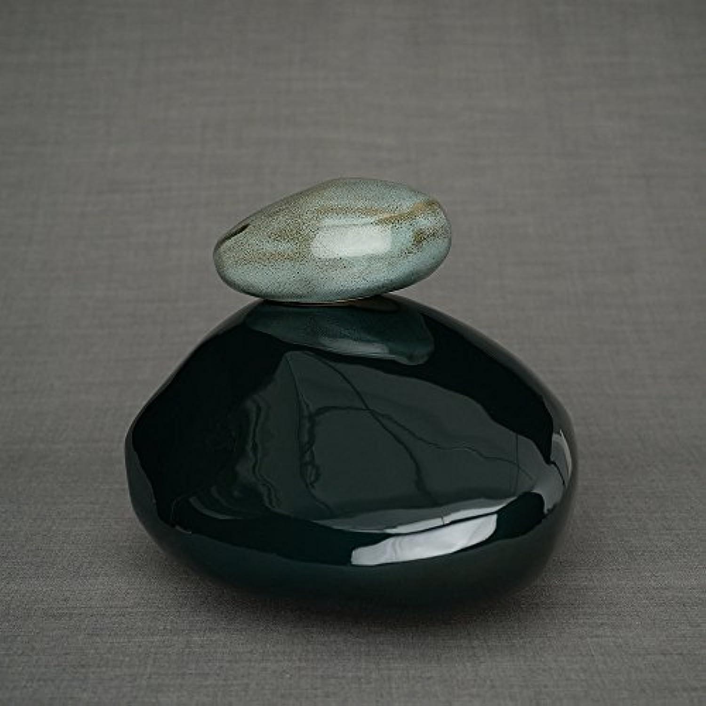 cendres cendres cendres Urne funéraire en céramique – Taille adulte – Pierres de mémoire – Oxyde Vert Finition 0b6d25