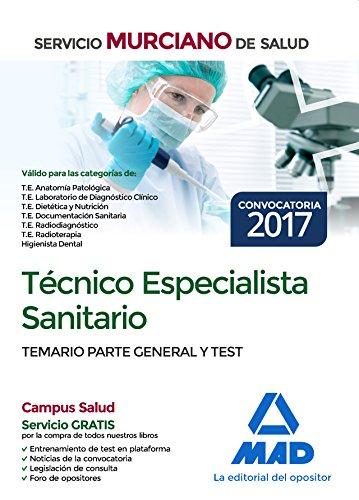 Técnico Especialista Sanitario del Servicio Murciano de Salud. Temario parte general y test