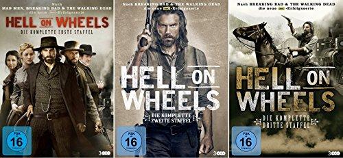 HELL ON WHEELS: Staffeln 1 - 3 [9 DVD Box] (Serie Mad Dvd Men-komplette)