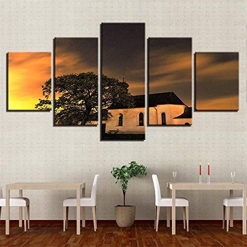 Malerei,Wulian HD Baum Landschaft Hauptgast Wandbild Mode Druck Handwerk Gemälde 4 Malerei Kern 20x35cmx2 20x45cmx2 20x55cmx1 ()