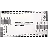 Stainless Steel Electric Guitar Bass String Action Measurement Measuring Ruler Gauge Luthier Accessory Tools Accessories