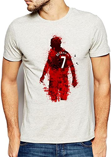 642 Stitches David Beckham Paint Art Men's Cotton Round Neck T-Shirt