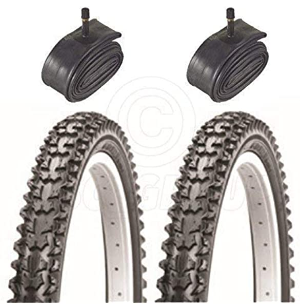 With Schrader Tubes 26 x 1.95 2 x SLICK Cycle MTB Bicycle Tyres Bike Tyres