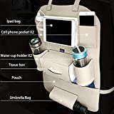 UnV 3D Car Auto Seat Back Multi Pocket Storage Bag Organizer Holder Hanger Accessory