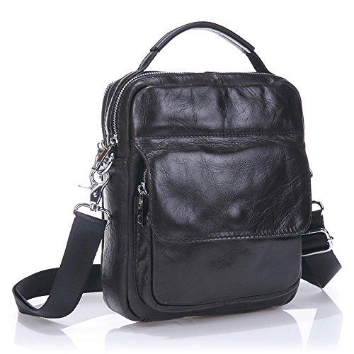 Everdoss hommes en cuir véritable épaule sac vintage sac à main commercial Messenger Sacs à bandoulière