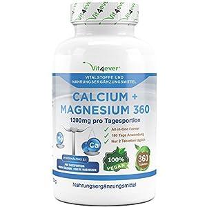 Magnesium Calcium Tabletten hochdosiert Vit4ever