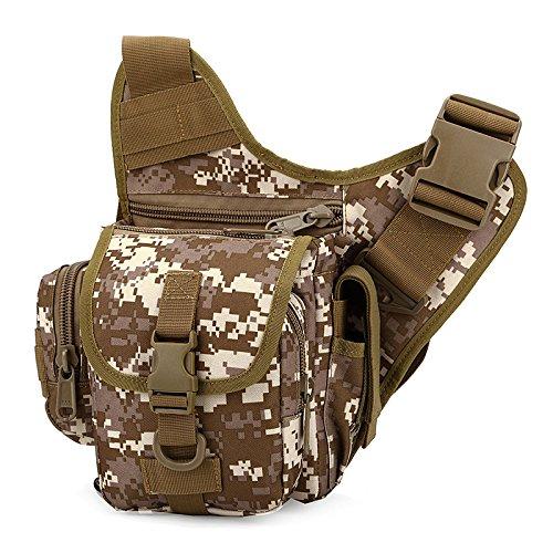 Zll/Esplosioni esterno tattico borsa Messenger piccola borsa da uomo Borsa a tracolla per fotocamera impermeabile in nylon Camo, three color Deserto