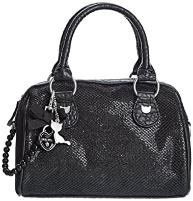 Lollipops Womens Reflet Small Bowling Top-Handle Bags 18717_BLACK Beige/Black One Size