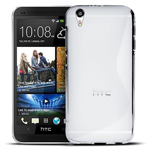 HTC Desire Eye Silikon Hülle Case in Transparent Cover Desire Eye Schutzhülle Handyhülle Cover Silikonhülle Rückschale