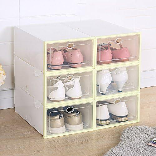 XFF Ispessimento scatola di scarpe scarpe scarpe anti-umidità trasparente famiglia cassetto tipo semplice dormitorio scarpe scatola di immagazzinaggio scatola di plastica combinazione,verde,Centimetro | Attraente e durevole  | Servizio durevole  | Qualità prim b08ab1