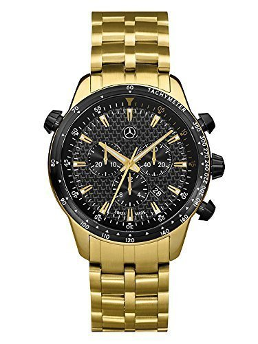Armbanduhr, Herren, MSP Chrono Gold Edition gold / schwarz, Edelstahl / Carbon, PVD beschichtet