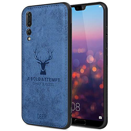 """JiatuA Custodia per Huawei P20 PRO, Cover Huawei P20 PRO Custodia Protettiva Antiurto per Huawei P20 PRO Soft TPU per Huawei P20 PRO 6.1""""-Blu"""