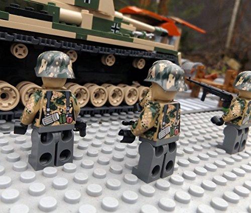 Modbrix 9919 – ✠ 2 Stück Custom Minifiguren STURMPIONIERE Deutsche Wehrmacht Soldaten aus original Lego® Teilen ✠ - 4