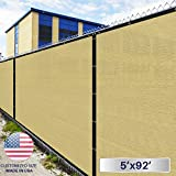 4' X 167' : Windscreen4Less Heavy Duty Privacy Screen Fence in Color Solid Black 4' X 167' Brass Grommets W/3-Year Warranty 150 GSM (Customized Sizes Available)
