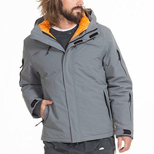 Zugspitze 3 in 1 Jacke Herren in Grau - YSPER - Doppeljacke, Winterjacke, Outdoorjacke - Größe L - Nur erhältlich auf Amazon.de