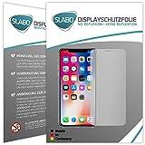 Slabo 2 x Displayfolie für iPhone XS | iPhone X Displayschutzfolie Zubehör No Reflexion MATT - Made IN Germany