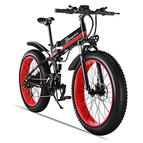 51TWlJMiv2L. SS500  - Shengmilo Electric Mountain Bike 26 Inches 1000W 48V 13ah Folding Fat Tire Snow Bike Shimano 21 Speed E-bike Pedal…