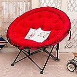 VIVOCC Komfortabel Untertasse Stuhl, Übergroßen Cord plüsch Mond Sofa Sessel Couch Abnehmbare Waschbar Für zuhause Office Sonne Kinder Beach Camping-B 116x103x90cm(46x41x35inch)