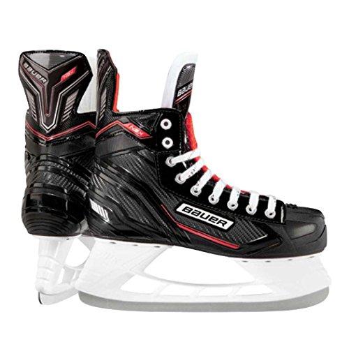 Blade Schlittschuhe Guard (Bauer NSX Eishockey Schlittschuhe UK-Größe 6 schwarz / rot)