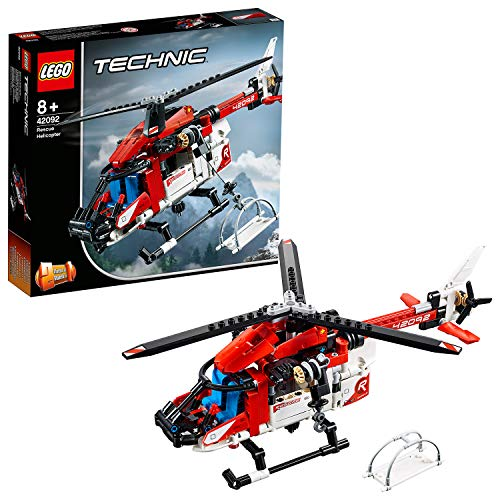 LEGO Technic - Rescue Helicopter, detailed toy model to build and create adventures in the air (42092)
