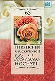 Glückwunschkarte zur Eisernen Hochzeit, B6 + Umschlag