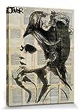 1art1 Set: Loui Jover, Etheral Poster Leinwandbild auf Keilrahmen (40x30 cm) + 1x Aktions-Home-Deko Artikel