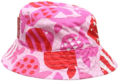 Toby Tiger Mädchen Mütze Fish Reversible Hat Hat, Rosa (Pink/White), X-Small -