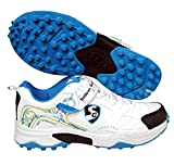 #2: SG Rubber Cricket Spikes Cricket Shoes with Dual Closure, Laces and Velcro Strap