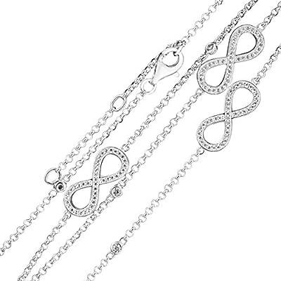 Thomas sabo - Thomas bloqueo infinity collar de plata con circonitas 90 cm ke1406 - 051-14 - l90v