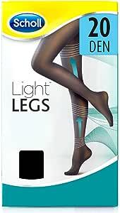 Scholl Light Legs Collant Donna Compressione Graduata 20 Den, L, Nero, 1 Paio